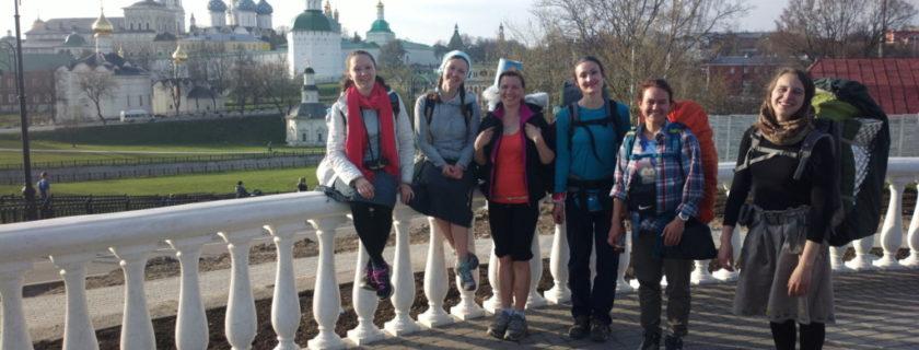 Участники семейных клубов трезвости совершили пешее паломничество в Троице-Сергиеву Лавру